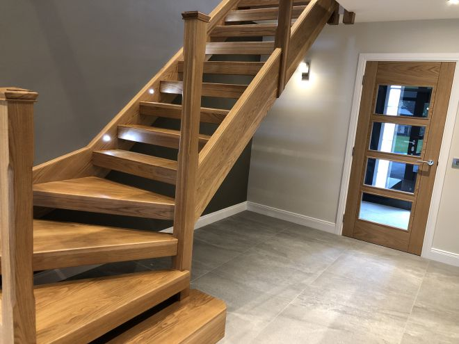 Oak staircase fitted