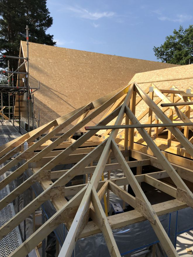 Pirch roof extension