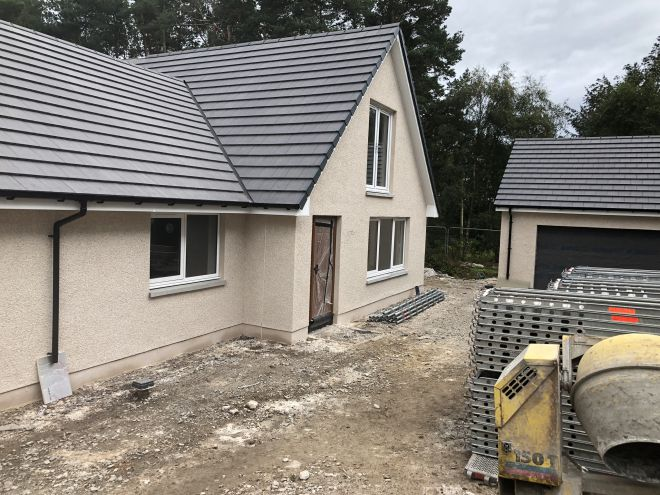 New build housing development by CMJ Aberdeen