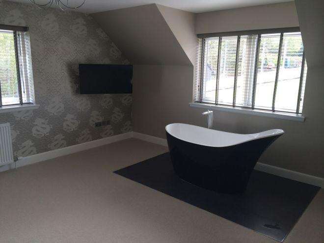 bath in bedroom