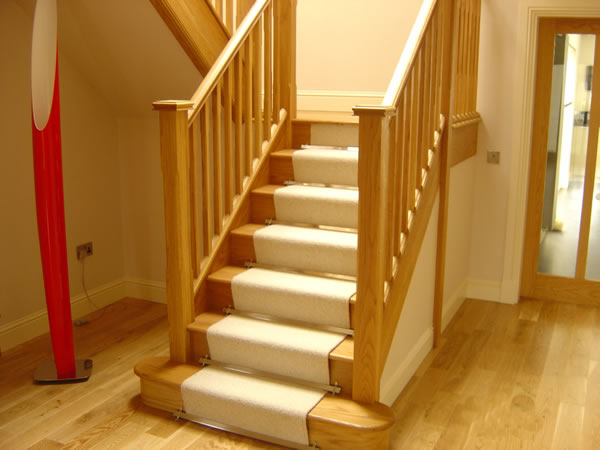 solid oak stair case fitting